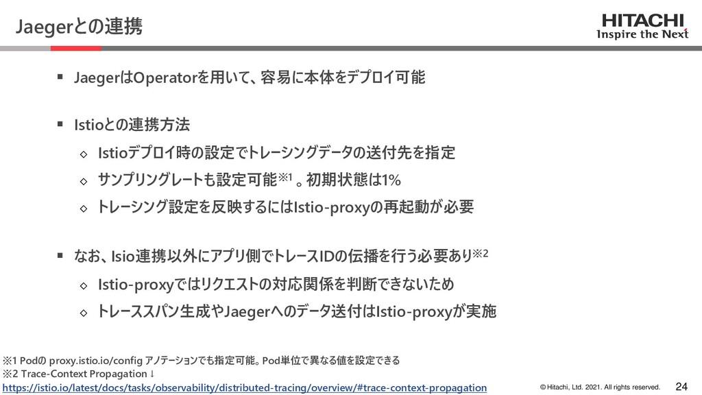 © Hitachi, Ltd. 2021. All rights reserved. Jaeg...