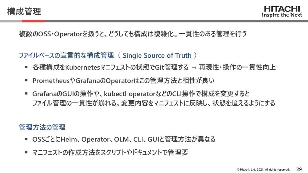© Hitachi, Ltd. 2021. All rights reserved. 構成管理...