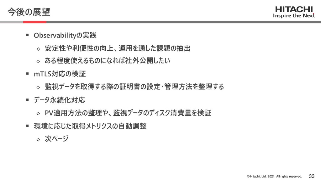 © Hitachi, Ltd. 2021. All rights reserved. 今後の展...