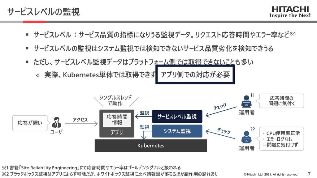 © Hitachi, Ltd. 2021. All rights reserved. サービス...