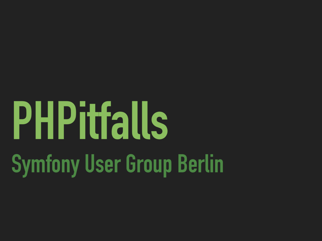 PHPitfalls