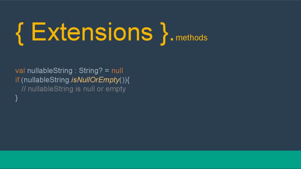 { Extensions }.methods val nullableString : Str...
