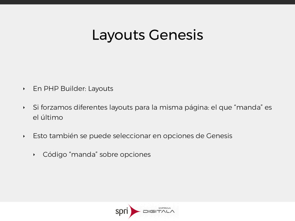 Layouts Genesis ‣ En PHP Builder: Layouts ‣ Si ...