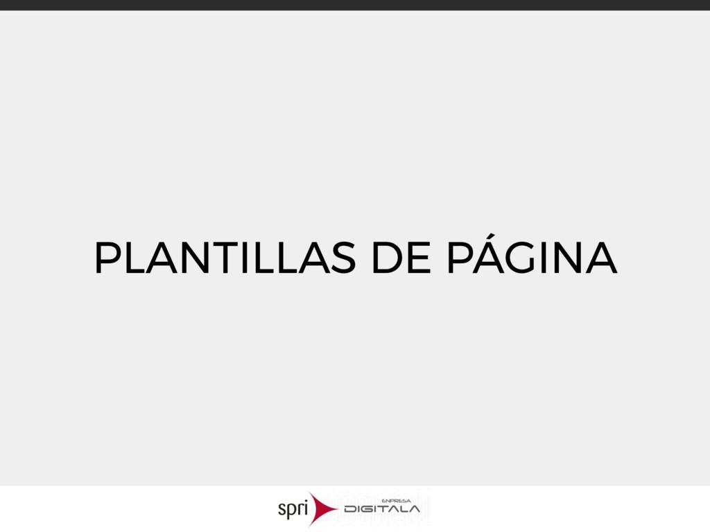 PLANTILLAS DE PÁGINA