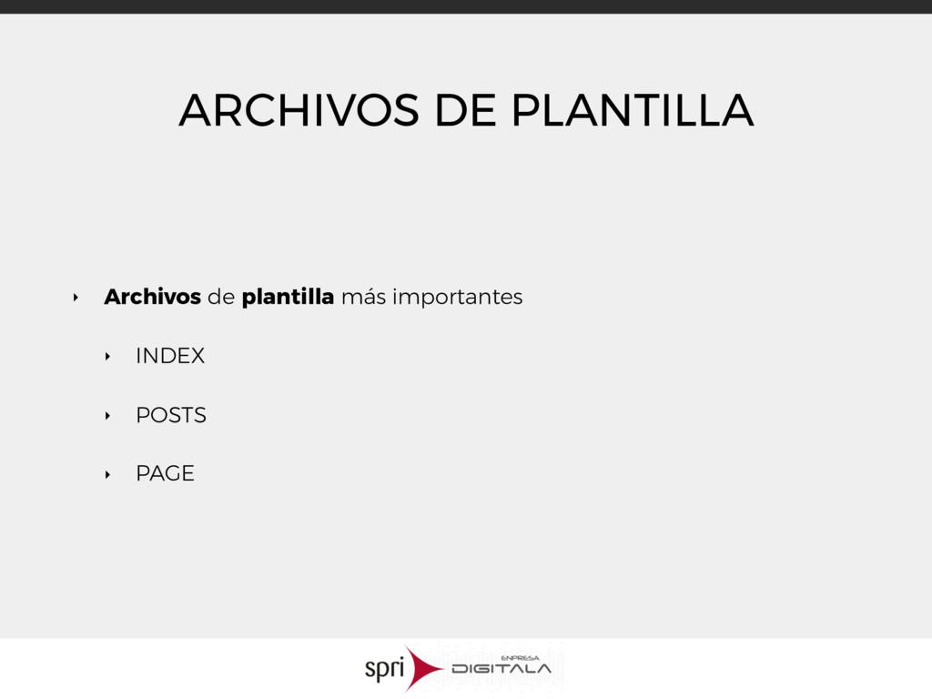 ARCHIVOS DE PLANTILLA ‣ Archivos de plantilla m...