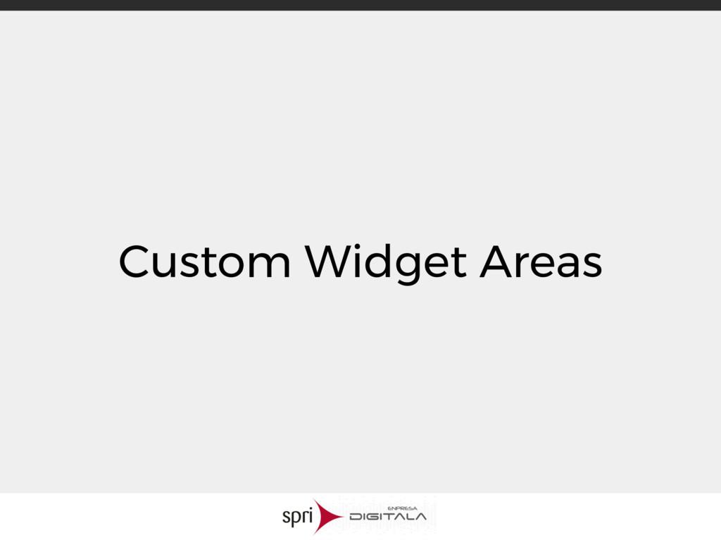 Custom Widget Areas