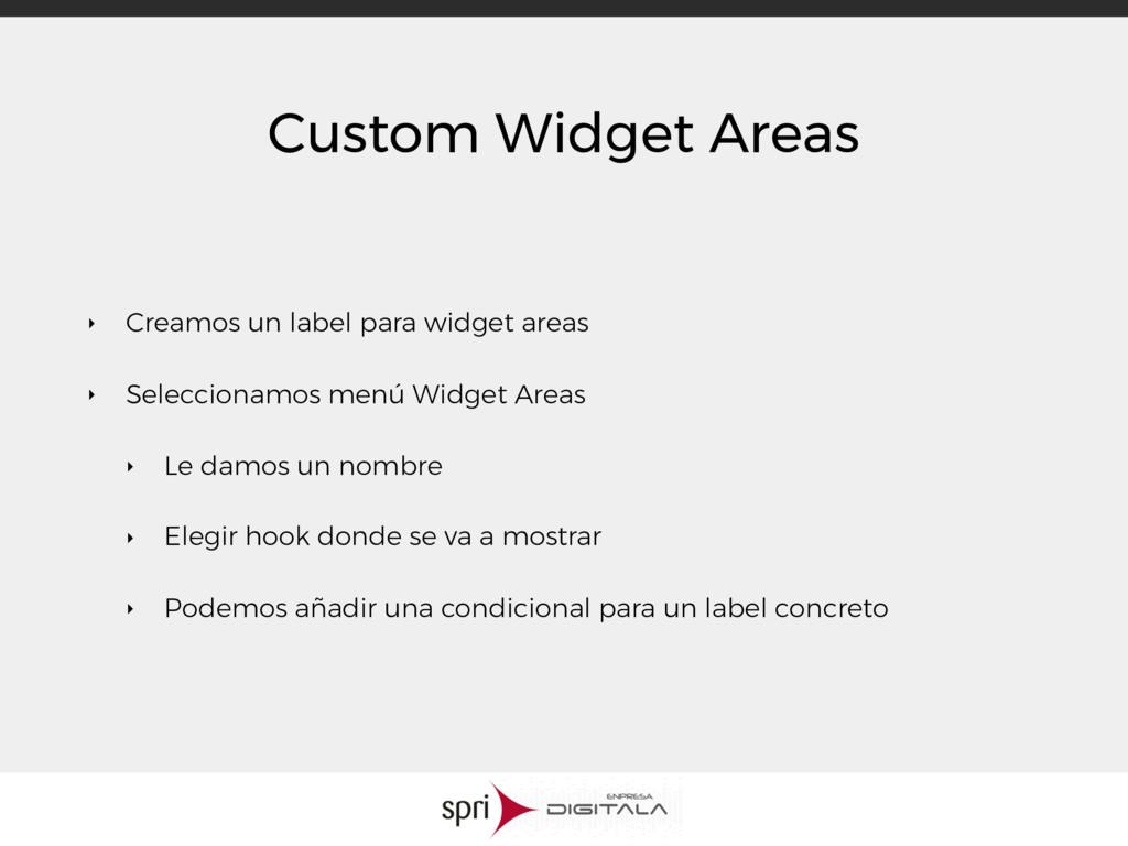 Custom Widget Areas ‣ Creamos un label para wid...