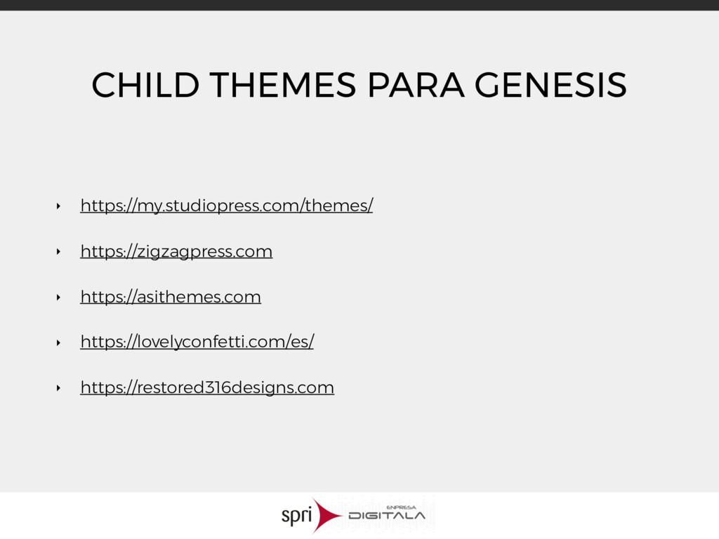 CHILD THEMES PARA GENESIS ‣ https://my.studiopr...