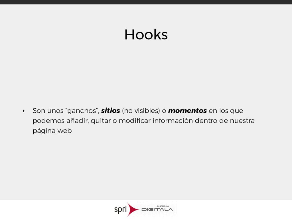 """Hooks ‣ Son unos """"ganchos"""", sitios (no visibles..."""