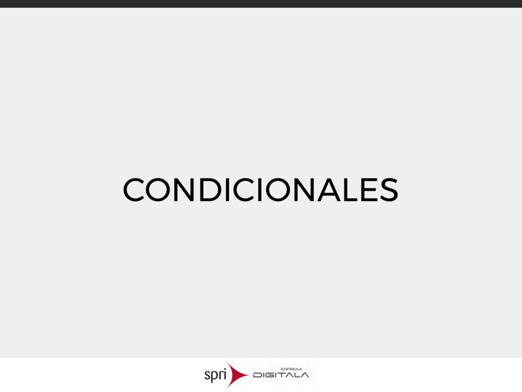 CONDICIONALES
