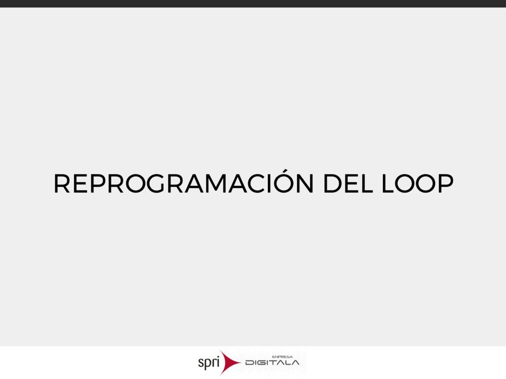REPROGRAMACIÓN DEL LOOP