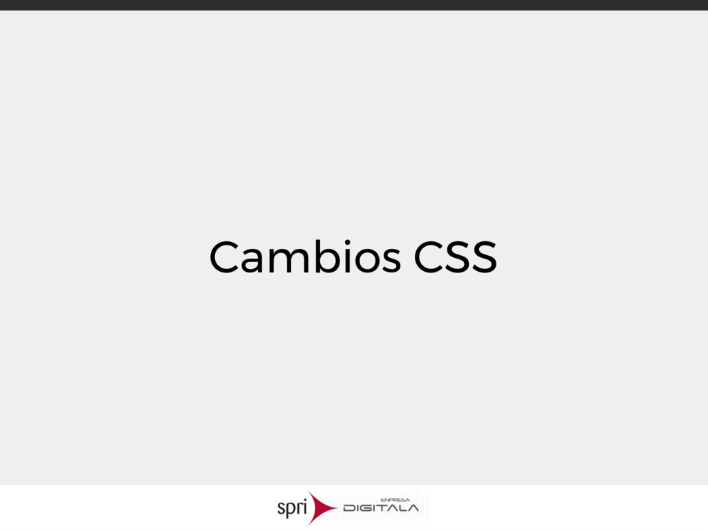 Cambios CSS