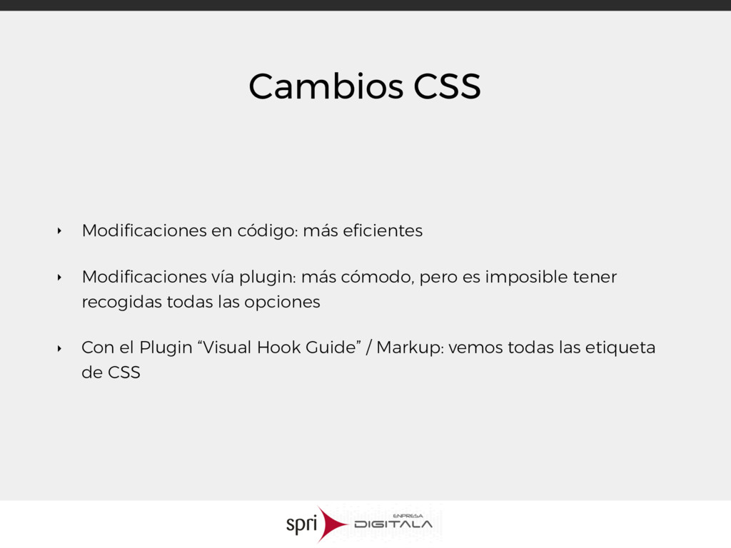 Cambios CSS ‣ Modificaciones en código: más efici...