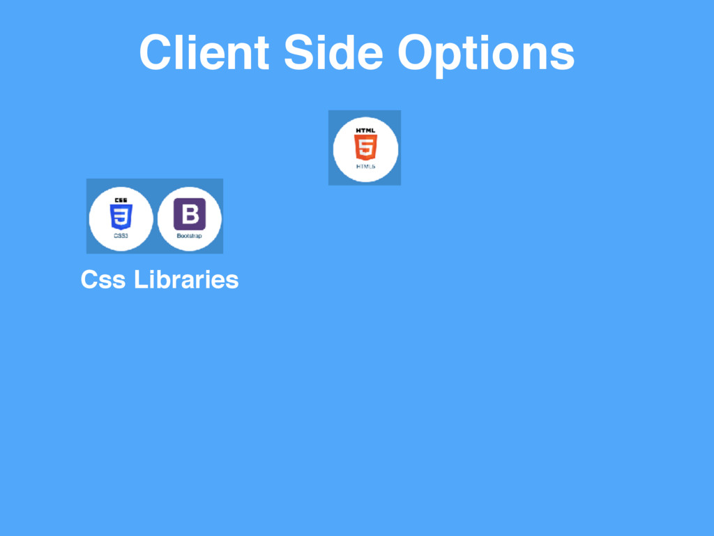 Client Side Options Css Libraries