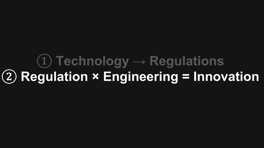 ① Technology → Regulations ② Regulation × Engin...