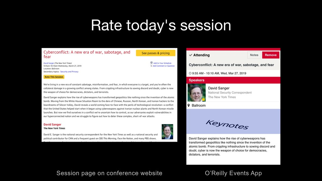 Rate today's session O'Reilly Events App Sessio...