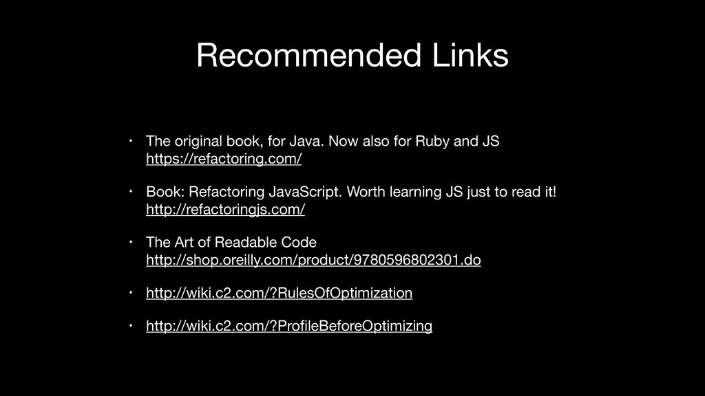Recommended Links • The original book, for Java...