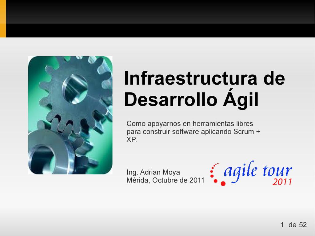 Infraestructura de Desarrollo Ágil Ing. Adrian ...