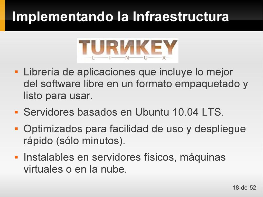Implementando la Infraestructura  Librería de ...