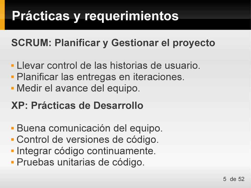 Prácticas y requerimientos SCRUM: Planificar y ...