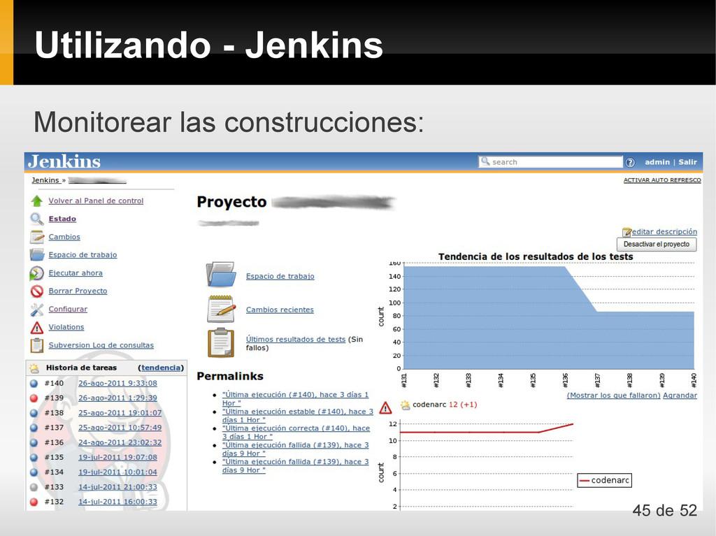 Monitorear las construcciones: Utilizando - Jen...