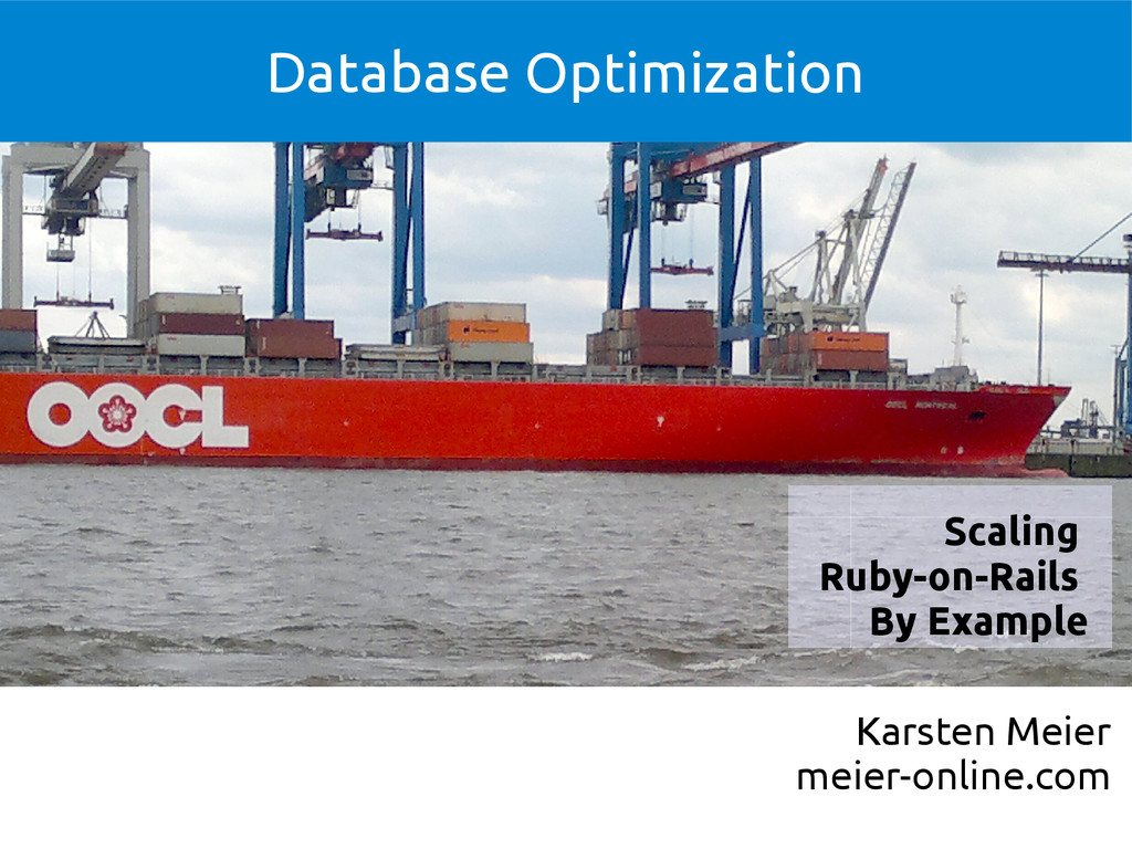 Database Optimization Karsten Meier meier-onlin...