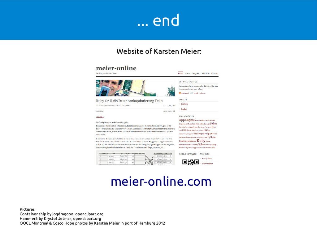 ... end meier-online.com Website of Karsten Mei...