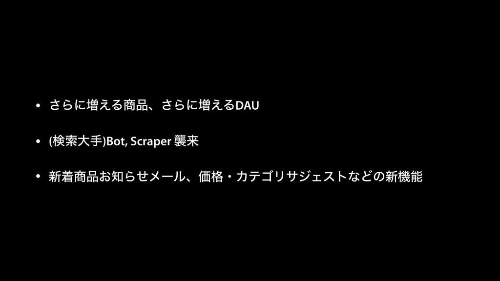 • ͞Βʹ૿͑Δɺ͞Βʹ૿͑ΔDAU • (ݕࡧେख)Bot, Scraper ऻདྷ • ...