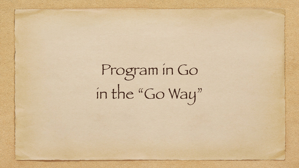 Program in Go
