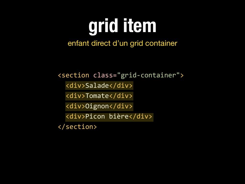 grid item enfant direct d'un grid container <se...