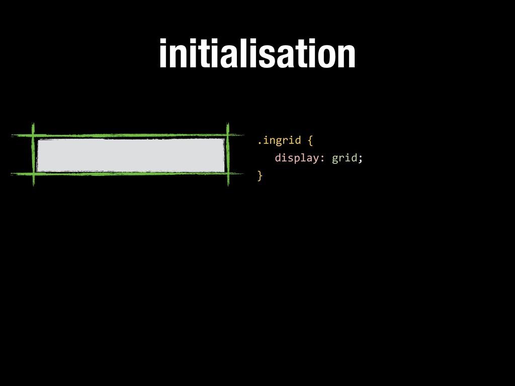 initialisation .ingrid { display: grid; }
