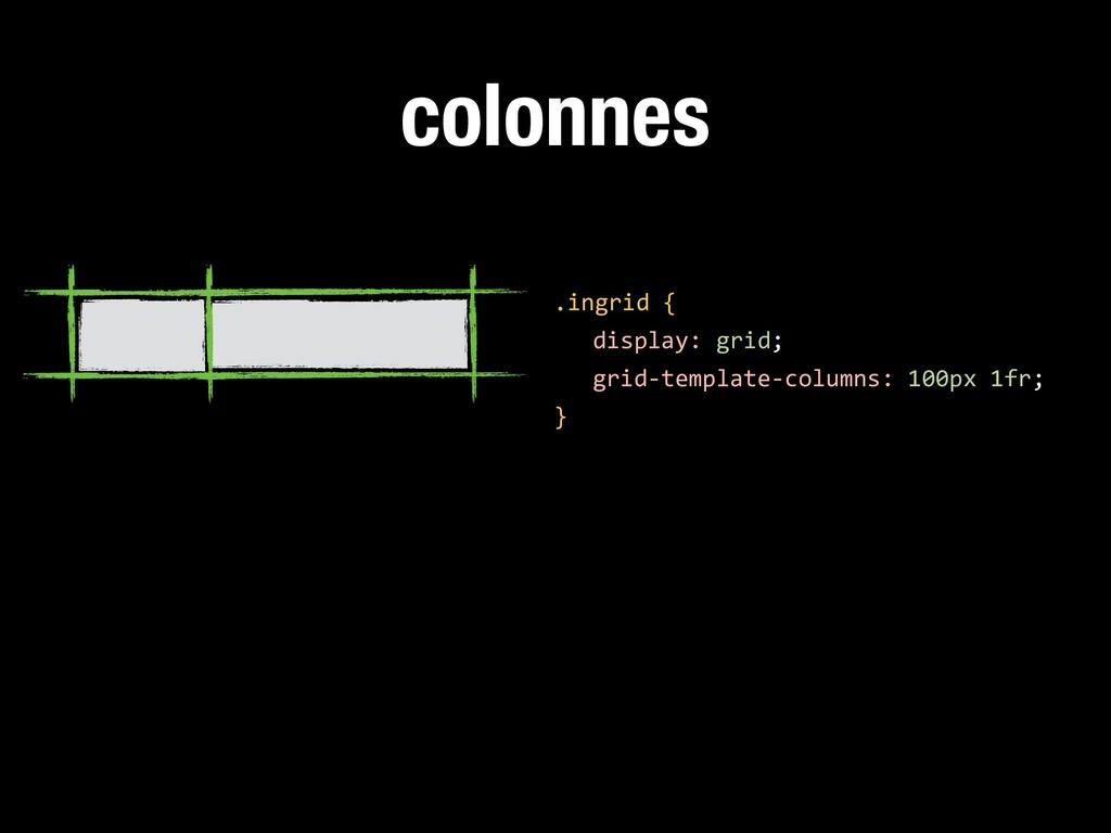 colonnes .ingrid { display: grid; grid-template...