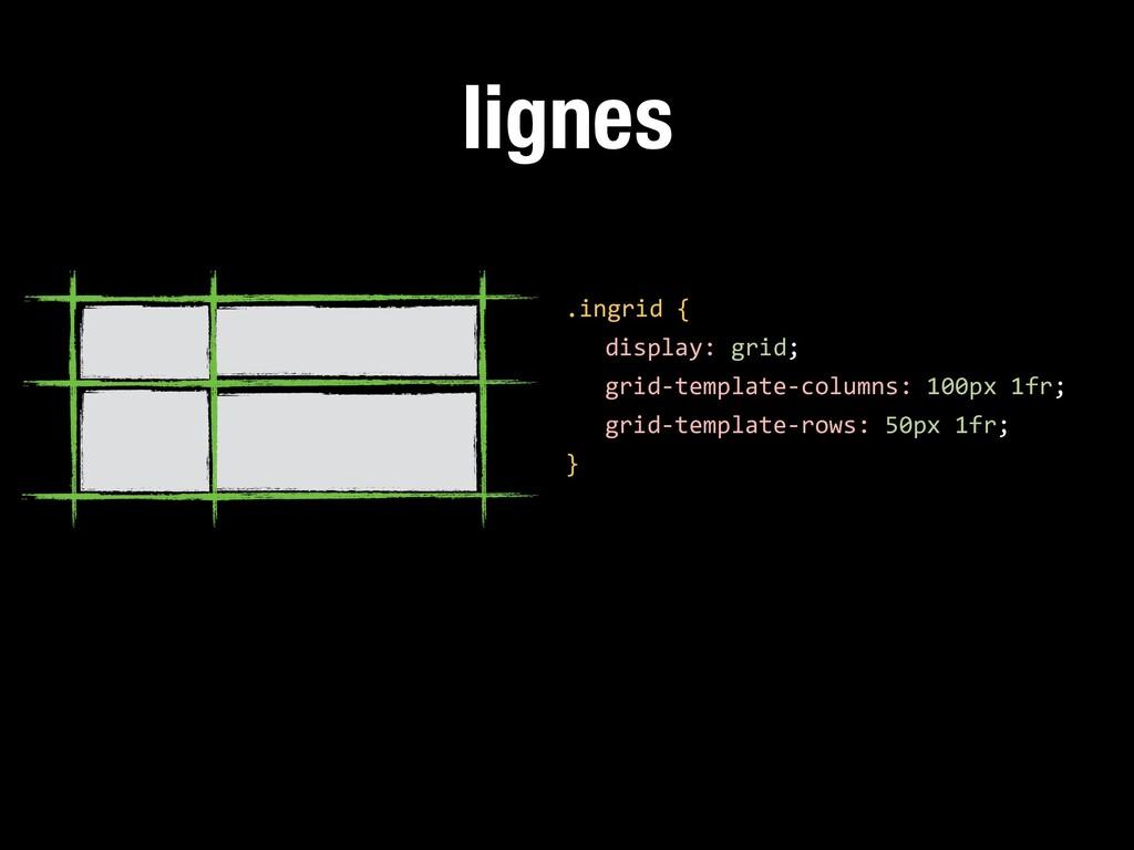 lignes .ingrid { display: grid; grid-template-c...