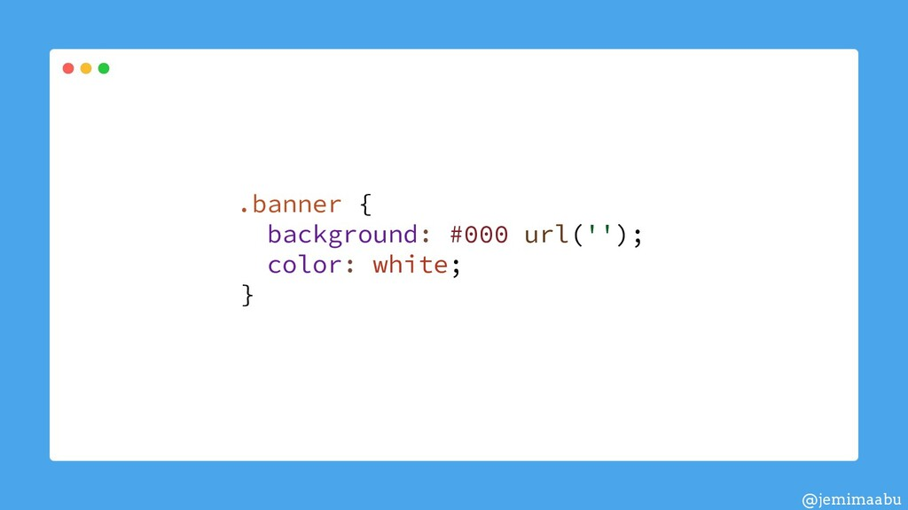 .banner { background: #000 url(''); color: whit...