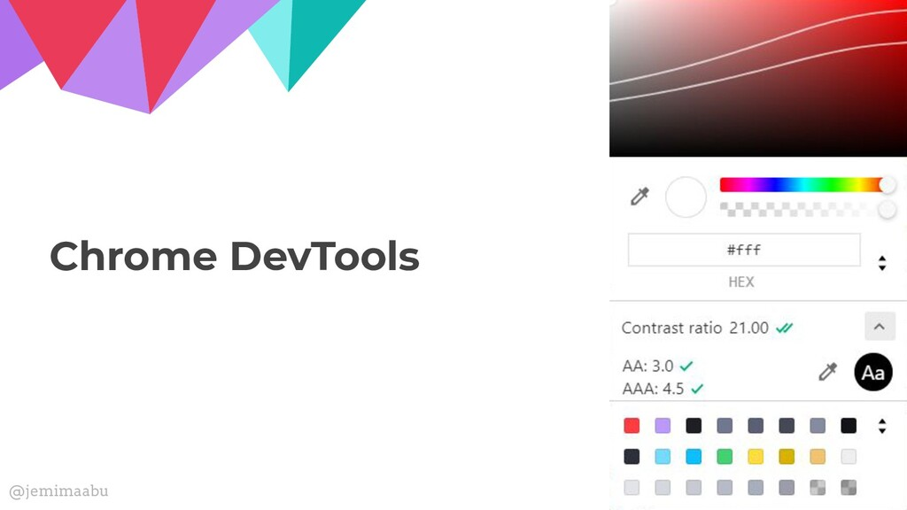 Chrome DevTools @jemimaabu