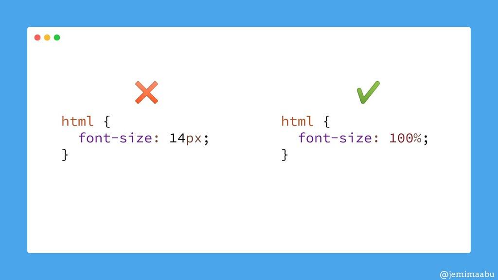 html { font-size: 100%; } html { font-size: 14p...