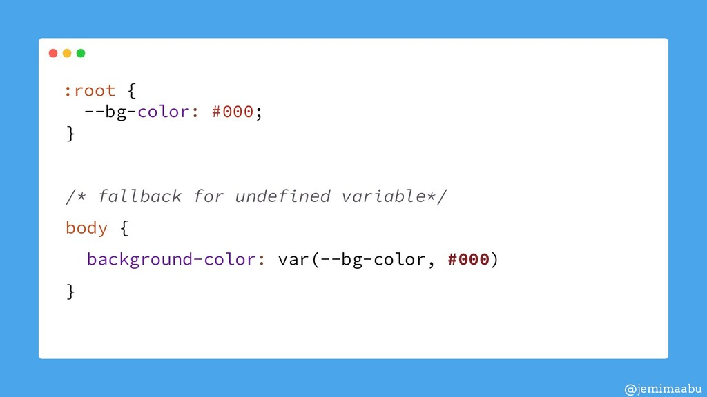 :root { --bg-color: #000; } /* fallback for und...