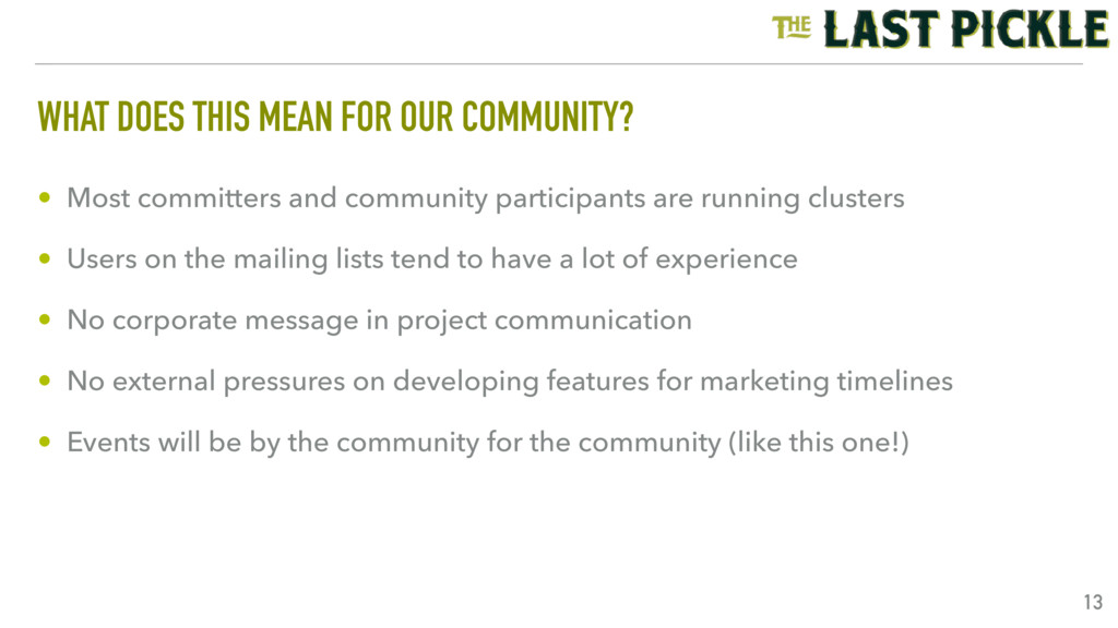 WHAT DOES THIS MEAN FOR OUR COMMUNITY? • Most c...