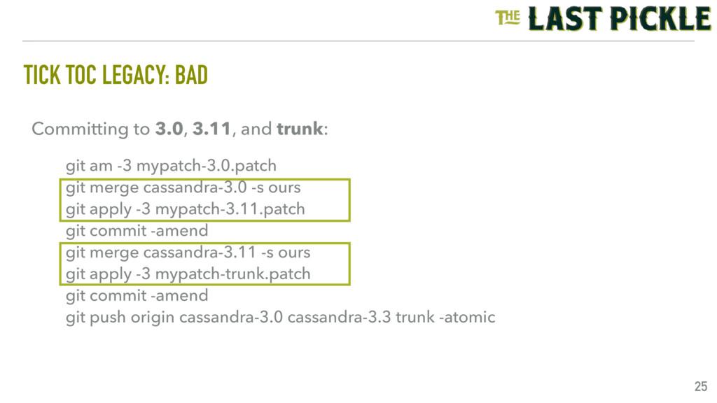 TICK TOC LEGACY: BAD 25 git am -3 mypatch-3.0.p...