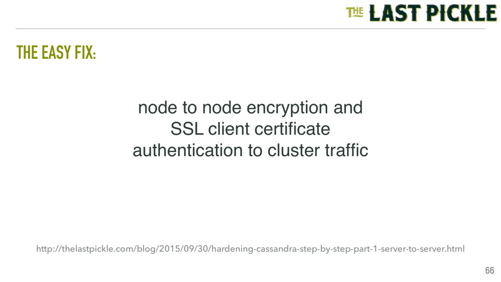 node to node encryption and SSL client certifica...