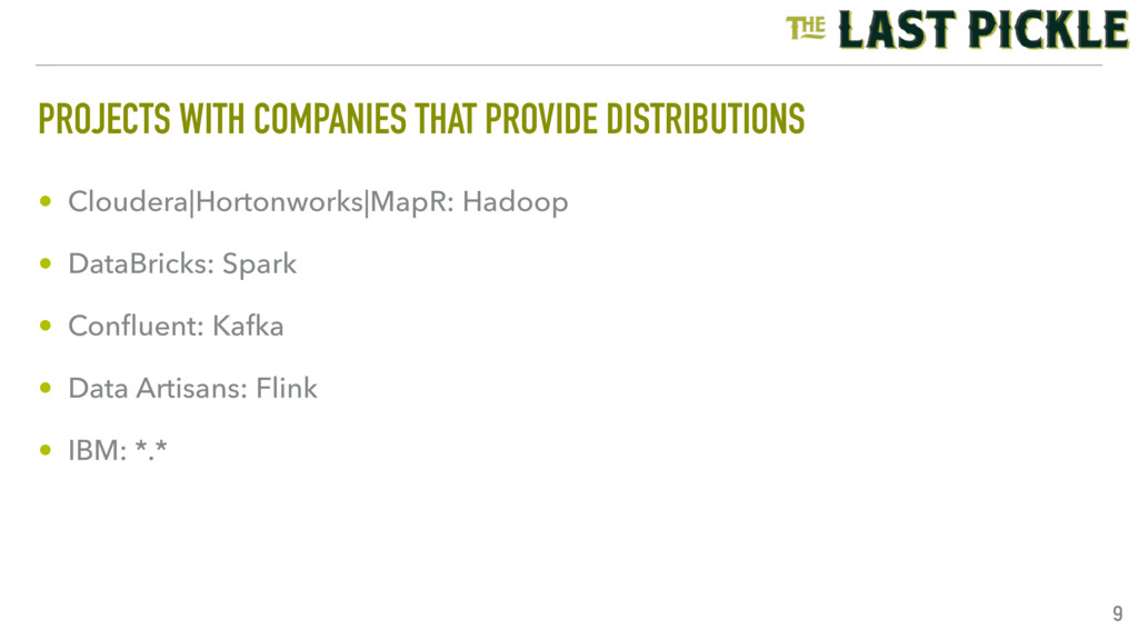 PROJECTS WITH COMPANIES THAT PROVIDE DISTRIBUTI...