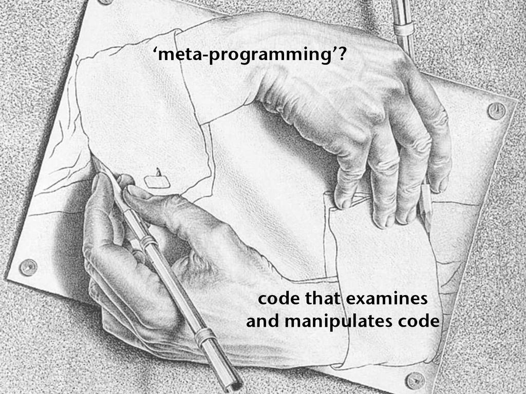 code that examines and manipulates code 'meta-p...