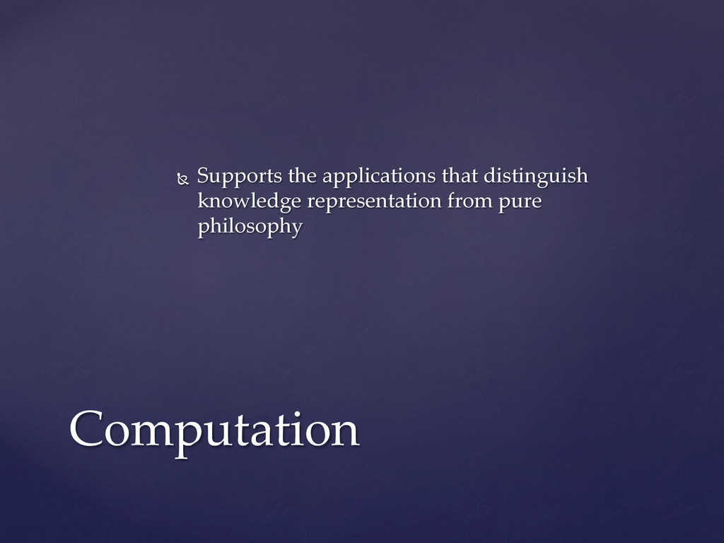 Ñ  Supports  the  applications  that  distingu...