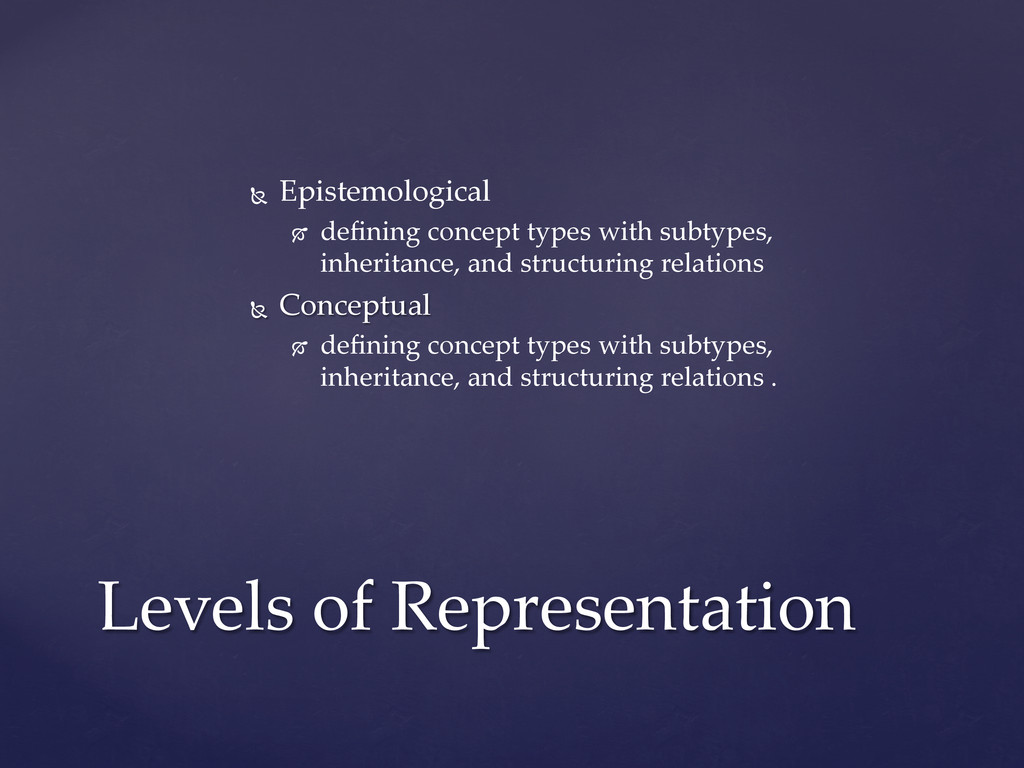 Ñ  Epistemological  	