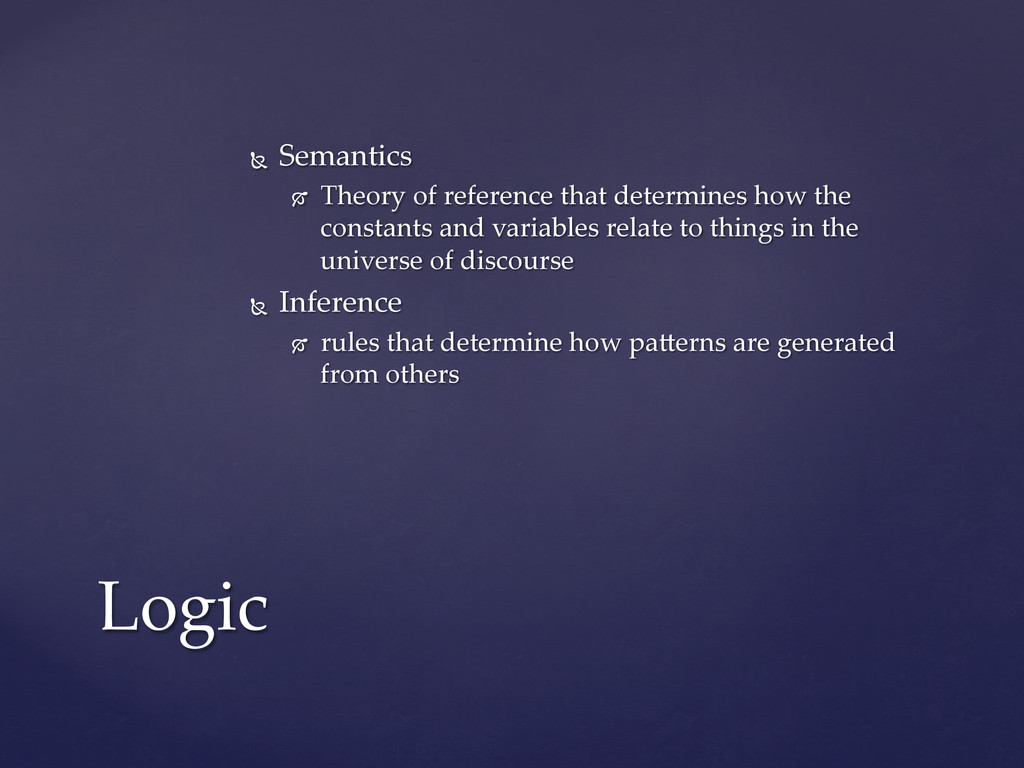 Ñ  Semantics	