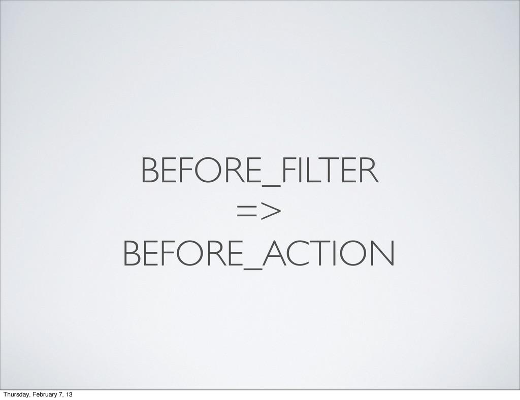 BEFORE_FILTER => BEFORE_ACTION Thursday, Februa...