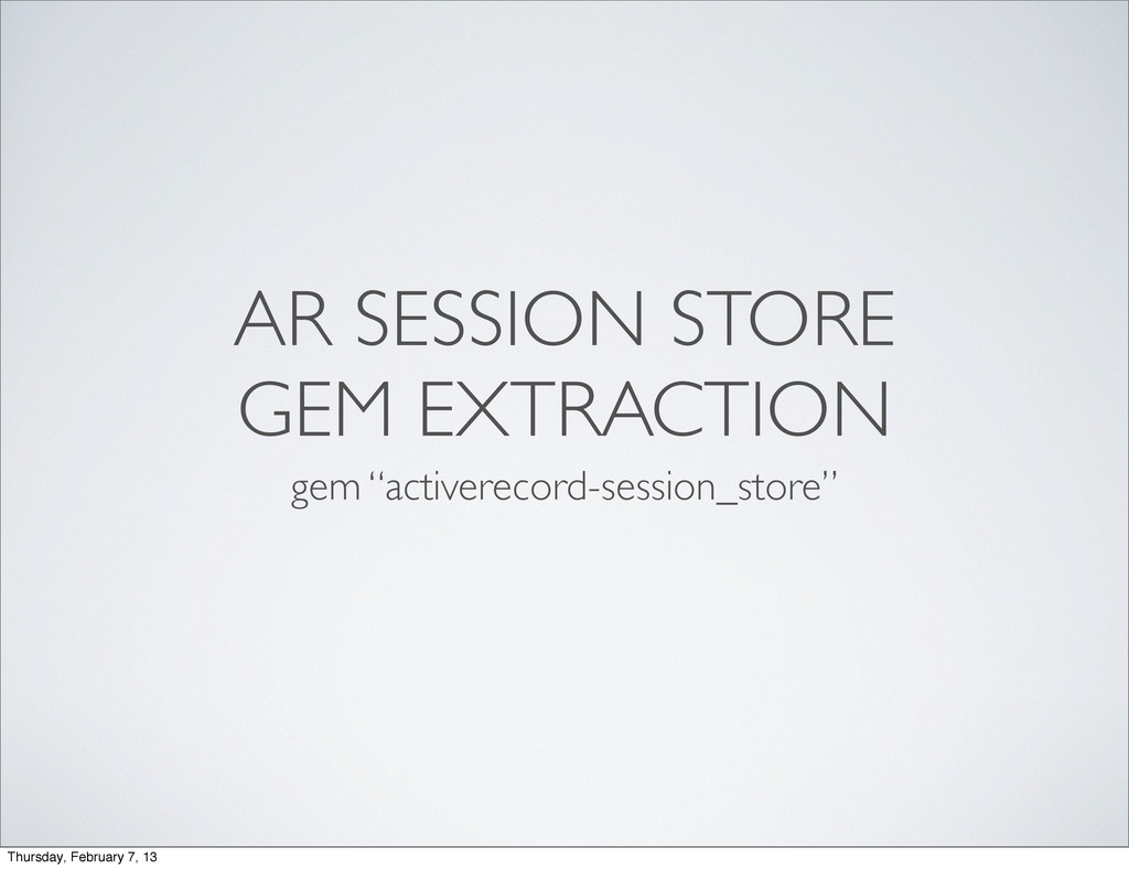 "AR SESSION STORE GEM EXTRACTION gem ""activereco..."