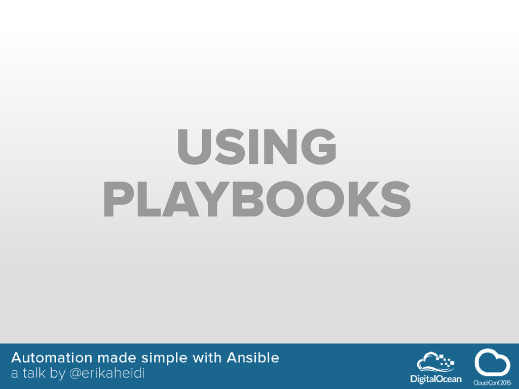 USING PLAYBOOKS