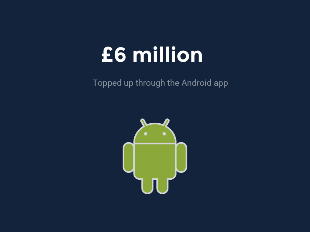 £6 million Topped up through the Android app