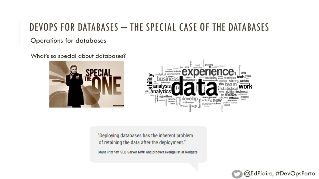 DEVOPS FOR DATABASES – THE SPECIAL CASE OF THE ...